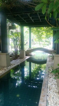 Montra Hotel: The pool running between two Villas
