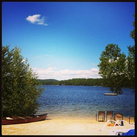 Crescent Lake Inn & Suites : the lake and beach, beautiful
