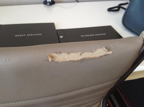 Hilton San Jose : ripped upholstery