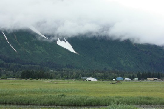 Bardy's Trail Rides - Day Tour: View toward earthquake damage.