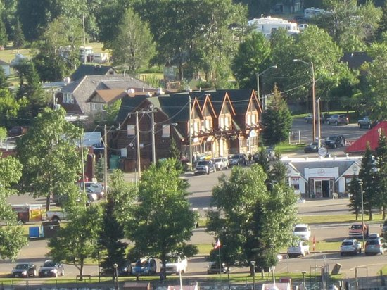 Wieners of Waterton: Viewed from Prince of Wales-the brown building-worth the walk