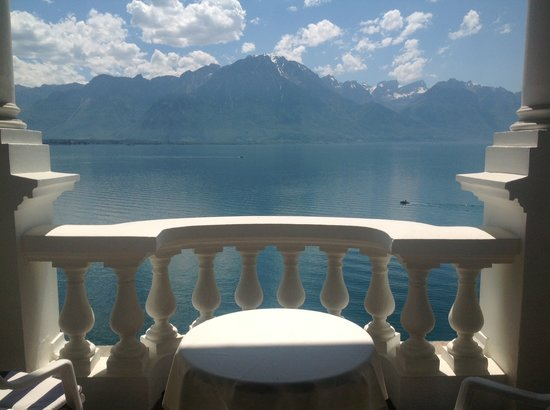 Hotel du Grand Lac Excelsior: view from standard room balcony, one of three like this