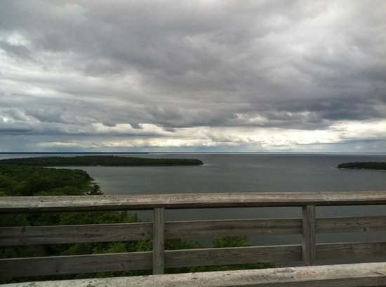 Peninsula State Park: top of eagle tower, worth the climb