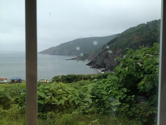Meat Cove Campground & Oceanside Chowder Hut: View from the inside the Chowder Hit