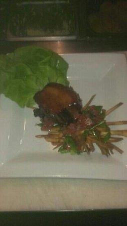 Blaze: asain pork belly lettuce wrap, wonton salad
