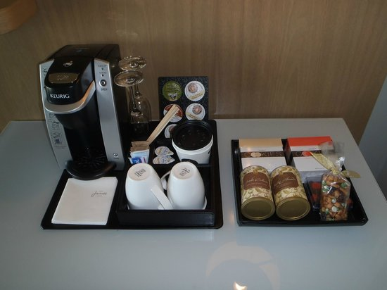 The James Hotel: The coffee maker and cookies