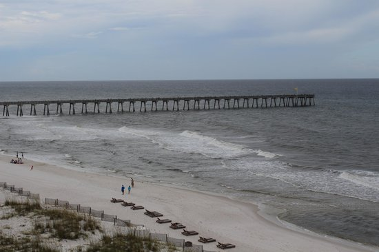 Margaritaville Beach Hotel: View of the boardwalk from our room.