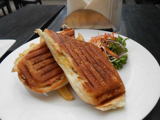Funky Buddha Kathmandu : Ham & Cheese Panini...delicious