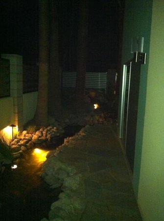 Residenza San Lorenzo: Night view of Koi pond which runs through property. Good times.