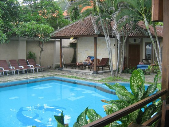 The Natia: View overlooking Pool from restaurant