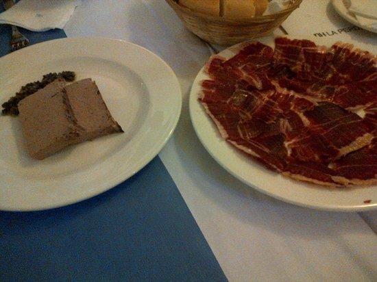 Hotel La Perdiz: Pate de perdiz y jamón