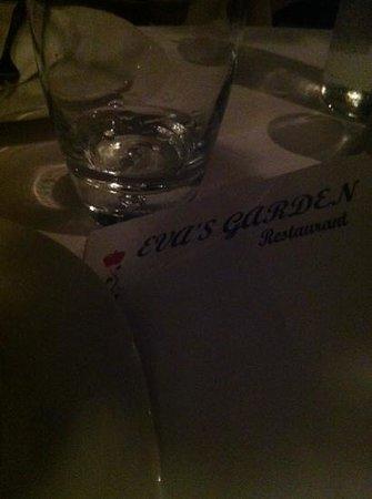 Eva's Garden Restaurant : carta