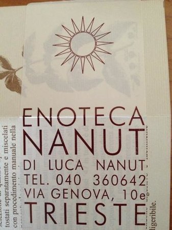 Enoteca Nanut: biglietto da visita