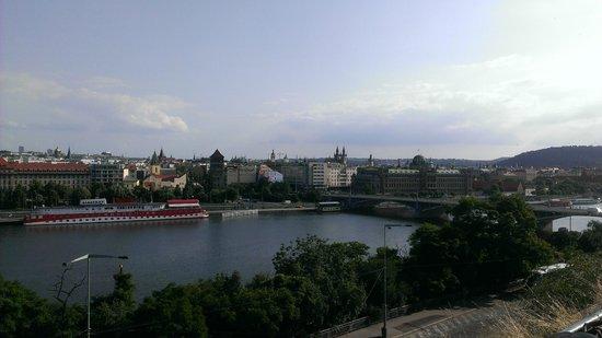 Praha Bike -  Bicycle Tours & Rentals : Prague from across Vltava again
