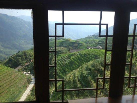 Long Ji One Hotel : View from restaurant / hotel lobby