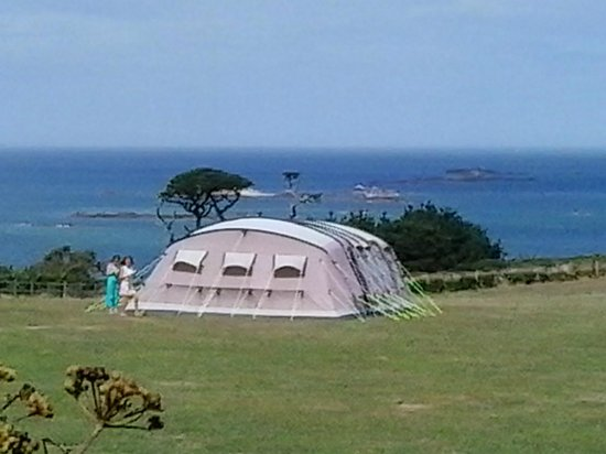 Seagull Campsite: View from one of the campsite fields.