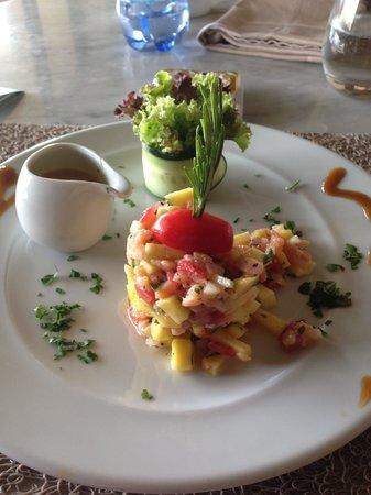Sirayane Boutique Hotel & Spa : Repas du midi Tartare Saumon Mangue