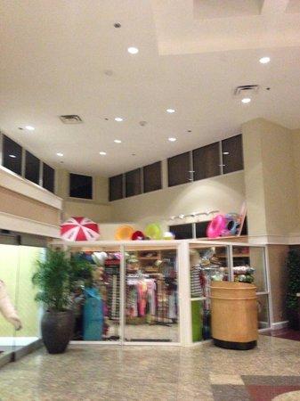Hilton Cocoa Beach Oceanfront: udsigt til værelset fra receptionen