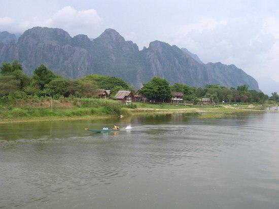 Ban Sabai Riverside Bungalow: View from terrace.