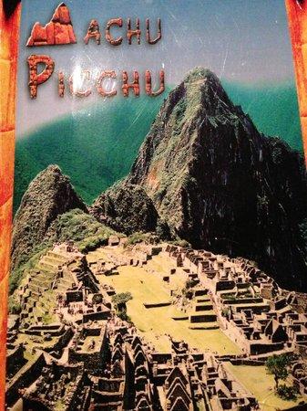 Machu Picchu: Menu Cover