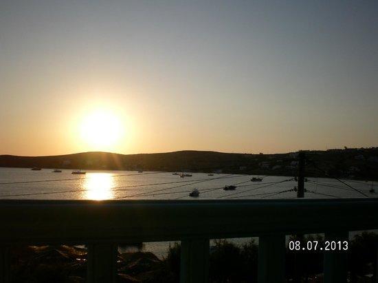 Livadia Hotel: il tramonto dal balconcino