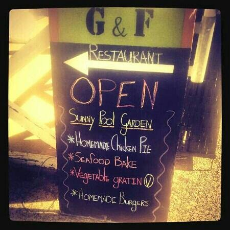 G & F: Less 20% on all mains served every Thursday