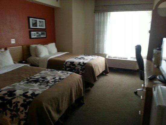 Sleep Inn: hard mattresses