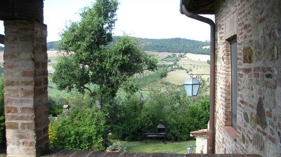 Agriturismo San Gallo: Panorama dal piccolo terrazzo