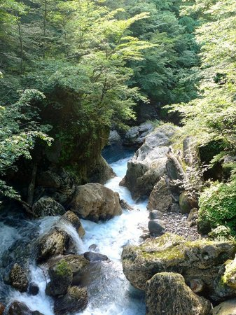 Shirahone Onsen: 冠水渓
