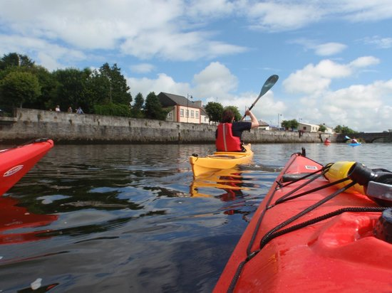 Paddle & Pedal: arriving into town centre by the Cathedral