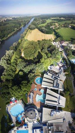 Bad Radkersburg, Østrig: Die Parktherme von oben