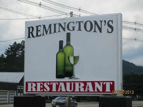 Remington's Restaurant: Remington's Sign