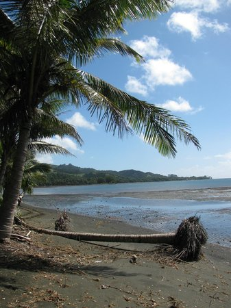 Natalei Eco Lodge: Along the beach, black sand