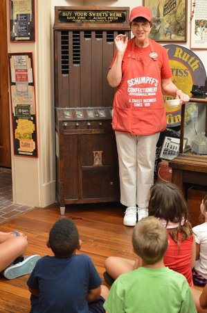 Schimpffs Confectionery: demonstrating a very old vending machine