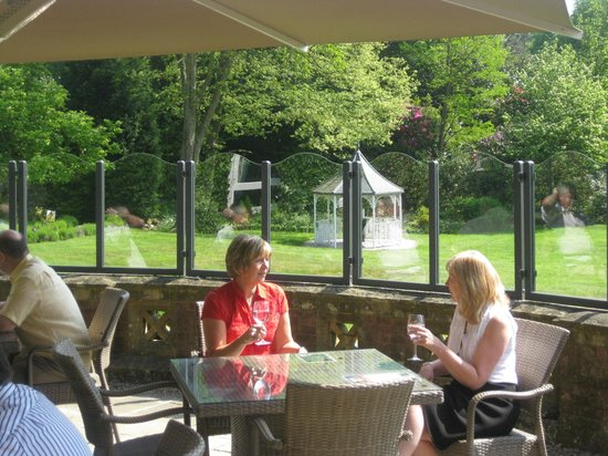 The lounge bar terrace at moor hall hotel spa sutton for The terrace restaurant bar