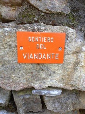 Sentiero del Viandante: cartello