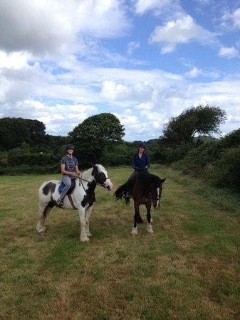 Drumcliffe Equestrian: Justin on Blue, me on Spud