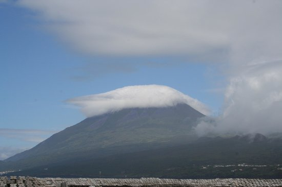View of Pico Mountain from the Whale'come ao Pico