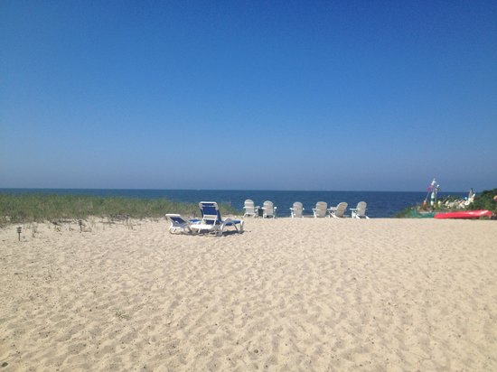 Sandbars on Cape Cod Bay: Beach area directly in front of the inn