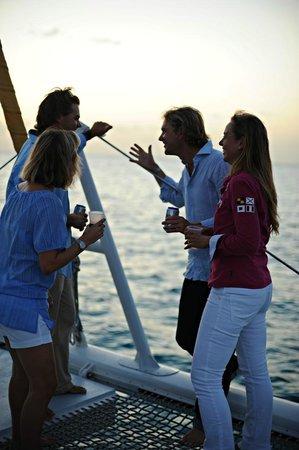 Simpson Bay, St. Maarten/St. Martin: Tango Dinner friends on the bow