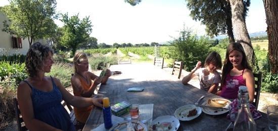 Domaine de Marotte: picknick met uitzicht over wijngaard