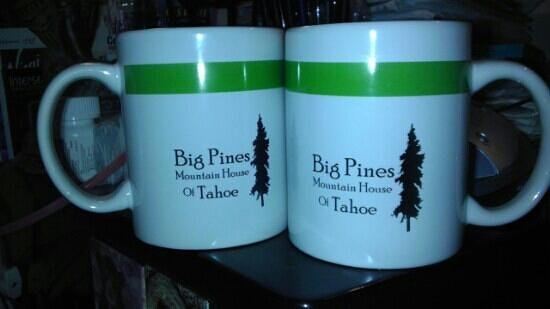 Big Pines Mountain House of Tahoe: Big Pines mugs that I bought for me & my partner.