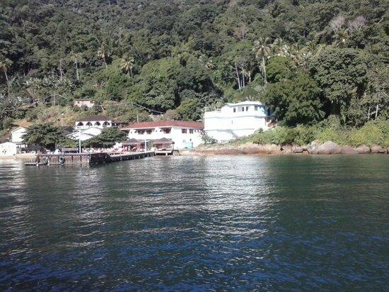 Pousada Maria Bonita: vista da pousada a partir do barco