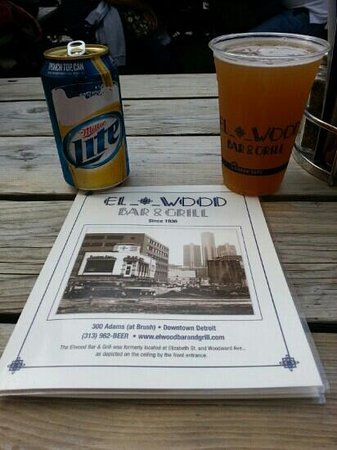 Elwood Bar & Grill: The begining of a great evening with my wife before the Tigers game.