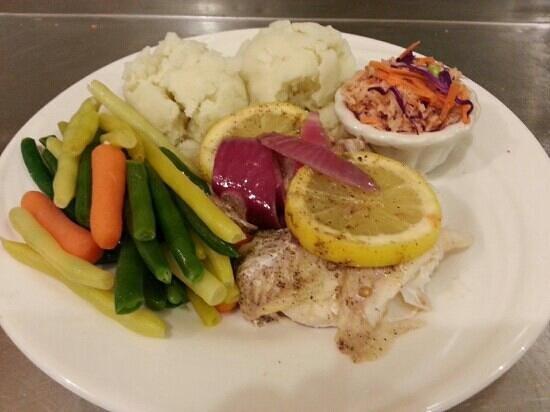 Sailor's Landing Restaurant: Baked Haddock Dinner