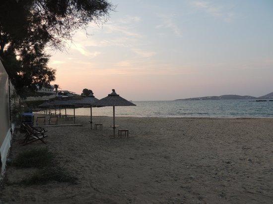 Parikia bay view from Delfini