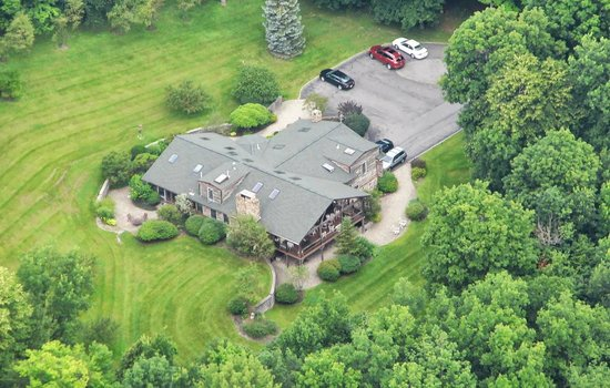 The Chalet of Canandaigua: Chalet of Canandaigua from the air (taken from my brother's airplane).
