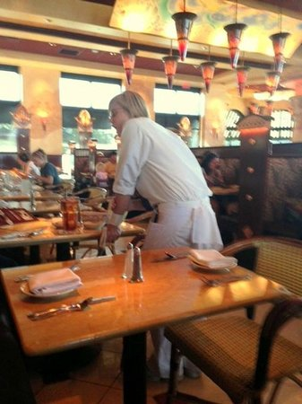 The Cheesecake Factory: a quick snap of our waitress