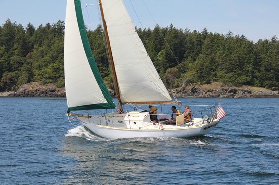 "Deer Harbor, WA: ""Aura"" in the 2012 Yellow Island Race"