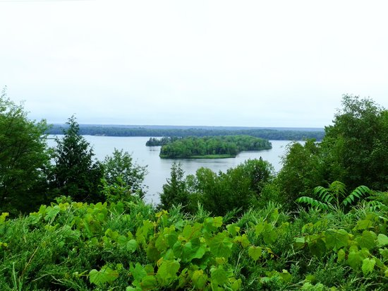 Lumberman's Monument Park: The view from the top of the stairs